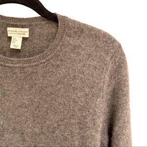 Adrienne Vittadini 100% Gray Cashmere Sweater